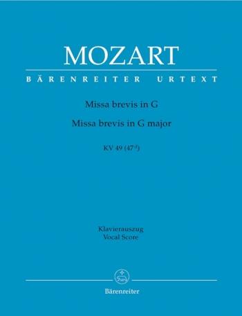 Missa Brevis In G Kv49 (47D): Vocal Score (Barenreiter)