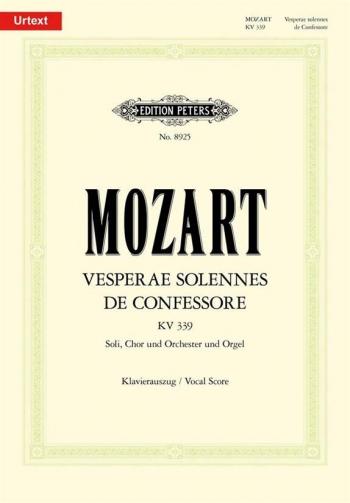 Vesperae Solennes De Confessore: Kv339: Vocal Score (Peters)