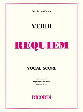 Requiem: Vocal Score Latin Text With English Translation  (Ricordi)