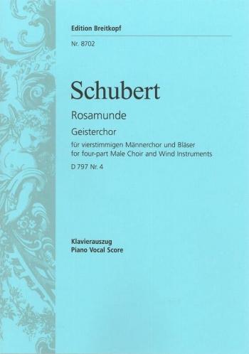 Geisterchor Aus Rosamunde, Furstin Von Zypern D 79: Vocal Score