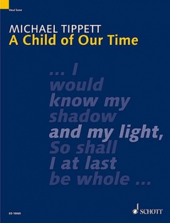 A Child Of Our Time: Vocal Score