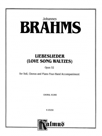 Liebeslieder: Love Song Waltzes Op52: Vocal Score
