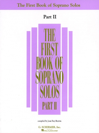 First Book Of Soprano Solos Part 2: Voice & Piano