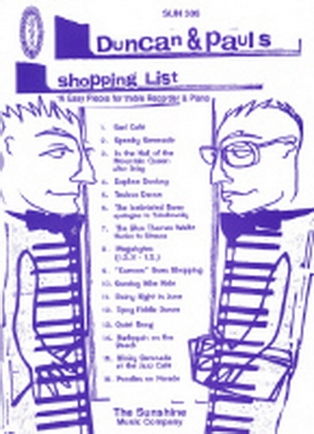 Duncan And Pauls Shopping List: Treble Recorder and Piano