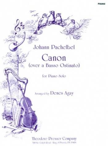 Canon: Piano Arr Agay (Presser)