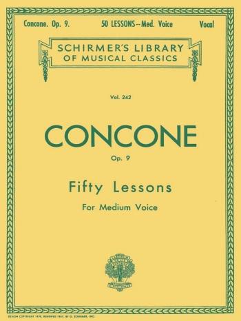 50 Lessons Op.9: Medium Voice Vocal (Schirmer)