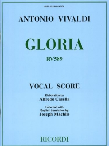 Gloria: Rv589: Vocal Score (Casella) (Ricordi)