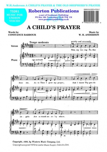 A Childs Prayer: Vocal