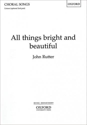 All Things Bright And Beautiful: Vocal: Unison Or 2Pt