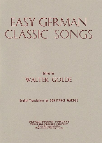 Easy German Classic Songs:  Vocal