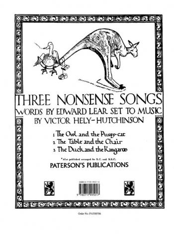 Hutchinson: 3 Nonsense Songs: G Maj: Vocal: Solo Song