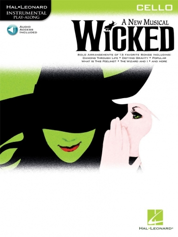 Instrumental Play-along: Wicked: Cello:  Book & CD