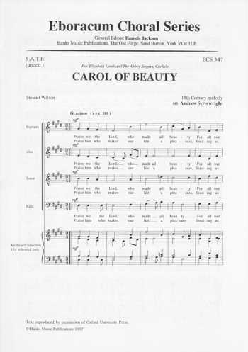 Carol Of Beauty: Vocal SATB (Seivewright, Andrew)