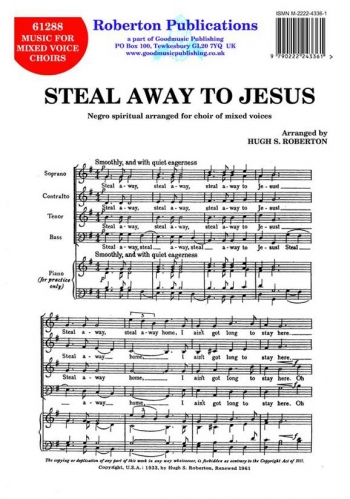Steal Away To Jesus-vocal-satb