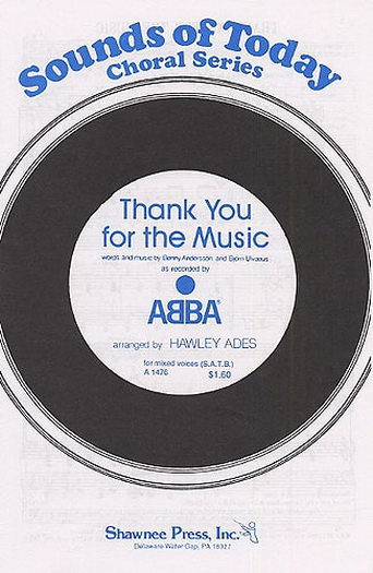 Abba Thank You For The Music: Vocal: Satb