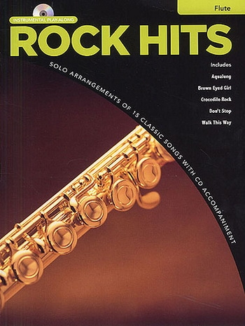 Instrumental Play-along: Rock Hits: Flute: Book & Cd