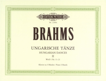 Hungarian Dances; Ungarische Tanze: 2: Piano Duet