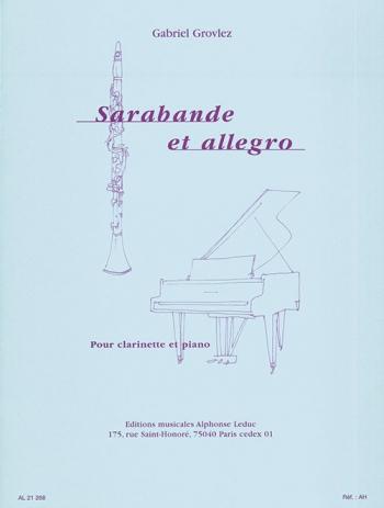 Sarabande Et Allegro:Clarinet & Piano (Leduc)