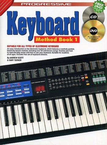 Progressive Keyboard Method Book 1 A4: Book & CD