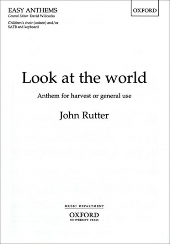 Look At The World: Vocal : Children Or Satb Choir And Piano