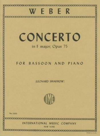 Bassoon Concerto F Major Op.75: Bassoon & Piano (International)