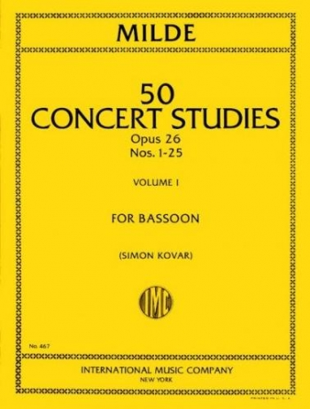 50 Concert Studies Op.26: Vol.1: Bassoon (International)