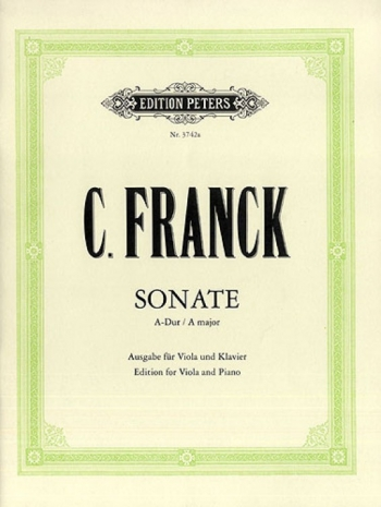 Sonate: A Major: Viola And Piano (Peters)