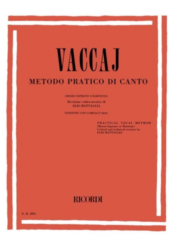 Practical Method (Metodo Pratico) Medium Voice: Mezzo Sop/Baritone: Book & Cd (Ricordi)