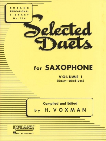 Selected Duets For Saxophone Vol1: Saxophone Duets (Voxman)