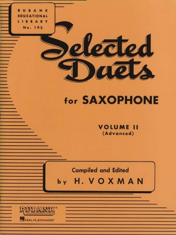 Selected Duets For Saxophone Vol.2 Saxophone Duets (Voxman)