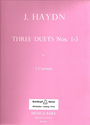 3 Duets Nos 1-3: Clarinets