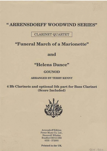 Gounod: Funeral March Of A Marionette: Clarinet Quartet