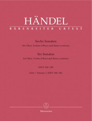 6 Sonatas: Vol 1 Oboe & Piano (Barenreiter)