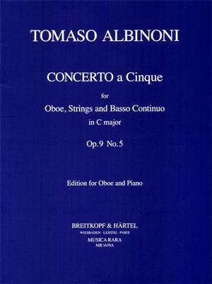 Oboe Concerto Op.9/5 Oboe & Piano (Breitkopf)