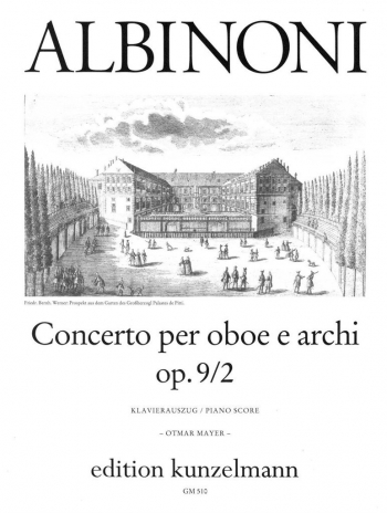 Oboe Concerto Op.9/2: Oboe & Piano (Kunzelmann)