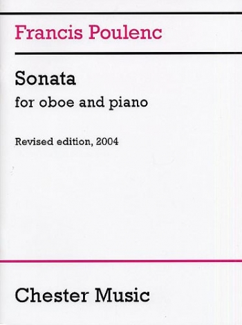 Sonata For Oboe And Piano Revised 2004 (Chester)