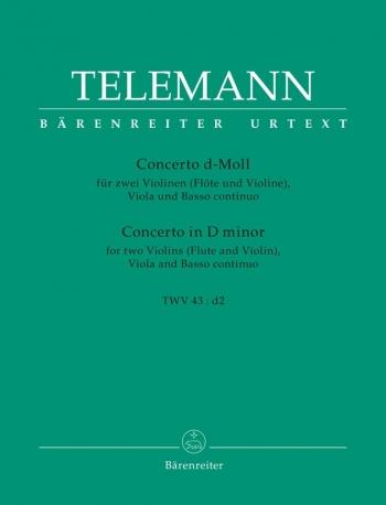 Concerto In D Minor: 2 Violin Viola Continuo  (Barenreiter)