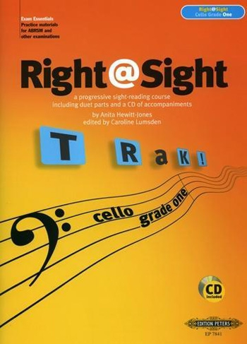 Right@sight: Grade 1 (Right At Sight): Cello: Book & CD (Lumsden) (Peters)