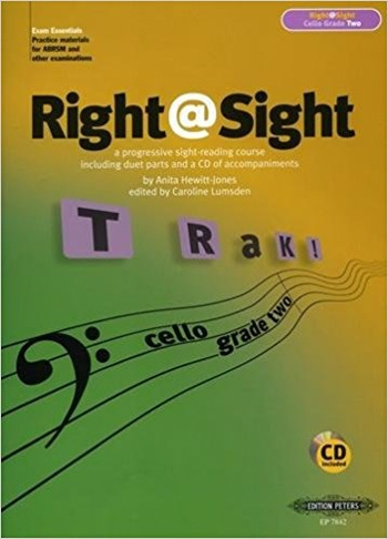 Right@sight: Grade 2 (Right At Sight): Cello: Book & CD (Lumsden) (Peters)