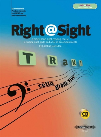 Right@sight: Grade 3 (Right At Sight): Cello: Book & CD (Lumsden) (Peters)
