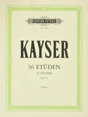 36 Etudes: Op20: Violin: Studies (Peters)