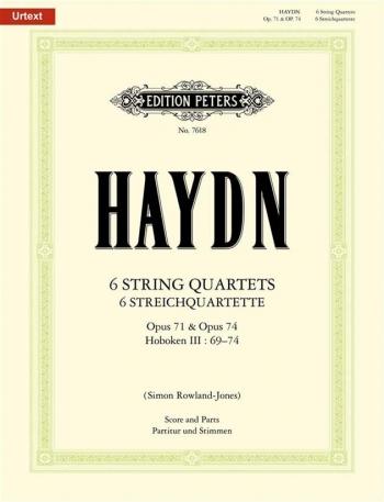 Haydn: 6 String Quartets: Op71&op74-hob Ill 69-74: String Quartet: Sc&pts (rowalnd-jones) Urtext