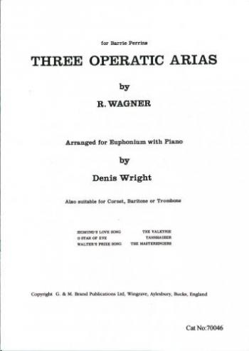 3 Operatic Arias: Tc: Cornet, Baritone Or Euphonium and Piano