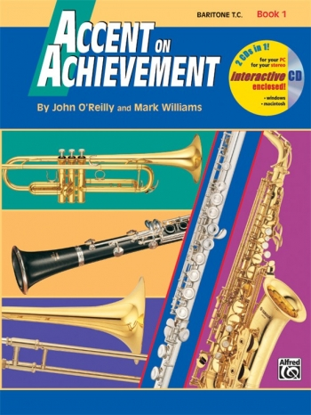 Accent On Achievement: Book 1: Baritone  Treble Clef: Book And CD