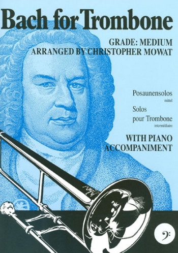 Bach For Trombone & Piano: Bass Clef (Brasswind)