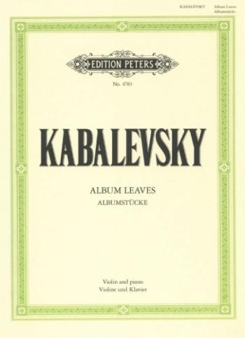 Albumstucke: Album Leaves: Violin & Piano (Peters)