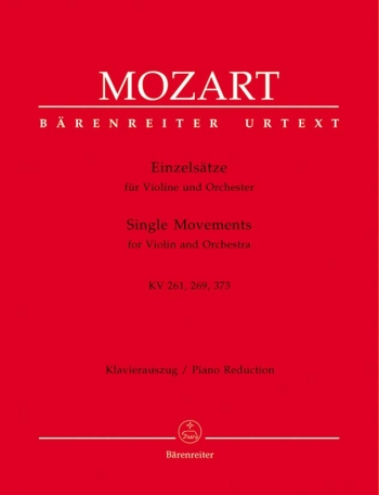 Single Movements: K261 269 373: Violin and Piano  (Barenreiter)