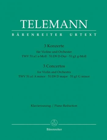 Concertos 3: Violin and Piano  (Barenreiter)