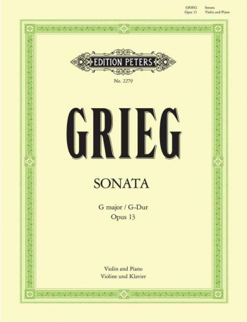Sonata No 2: G Major: Op13: Violin and Piano (Peters)