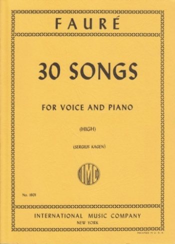 30 Songs: Vocal: High Voice & Piano (International)